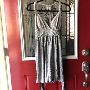 Pink Rose Gray Dress